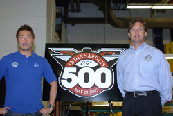 Roger Yasukawa, left, and Dreyer & Reinbold Racing co-owner Robbie Buhl