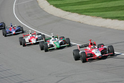 Dan Wheldon leads Tony Kanaan and Sam Hornish Jr.