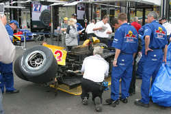 The wreck of Patrick Carpentier's car