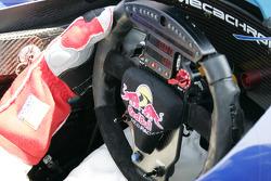 Steering wheel of the Cheever Racing car
