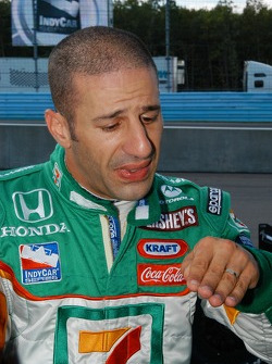 Tony Kanaan had an imbalance in handling