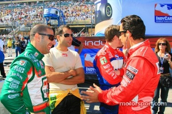 Helio Castroneves, Tony Kanaan and Vitor Meira