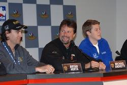 Bryan Herta, Michael Andretti and Marco Andretti