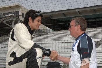 Thiago Medeiros and Johnny Rutherford