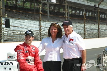 Sam Hornish Jr. with Mr. and Mrs Roger Penske
