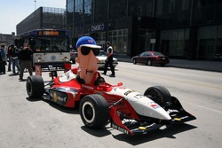 Arie Luyendyk Jr. and a a Klement Racing Sausage