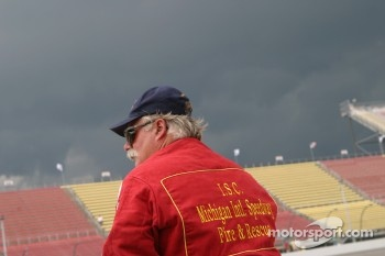 Michigan International Speedway fire and rescue worker