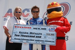 Firestone performace award to Kosuke Matsuura