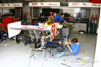 AJ Foyt Enterprises crew members at work