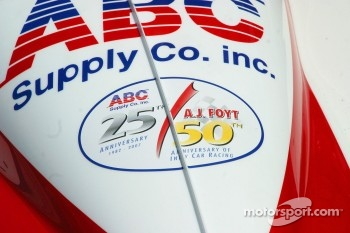 The 50th Anniversary Logo for A.J. Foyt's 50th anniversary in open wheel racing