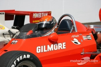 A.J. Foyt IV drive his grandfather's 1977 winning car on the Ceremonial lap that was a part of the opening day ceremonies