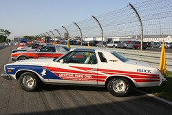 Vintage cars from the '70s era on display