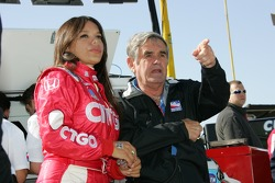 Milka Duno and Al Unser Sr.