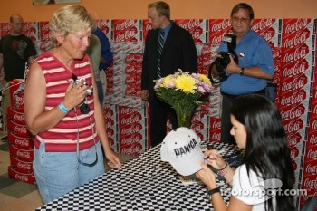 Danica Patrick signs autographs at a local Meijers