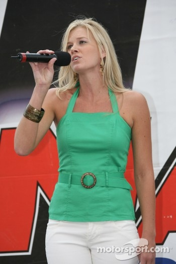 Jill Van Meter performs the National Anthem