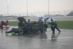 The rain pours down on Nashville Superspeedway