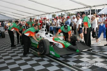 Andretti Green Racing car of Tony Kanaan at tech inspection