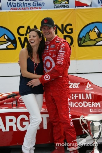 Winners circle: Scott Dixon and his fiancée