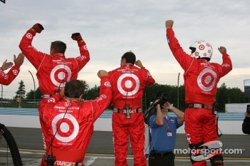 The Target Chip Ganassi team celebrates