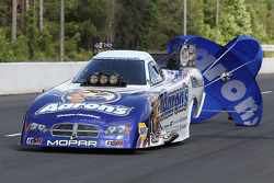 The Aaron's Dodge Charger coasting after winning the Southern Nationals