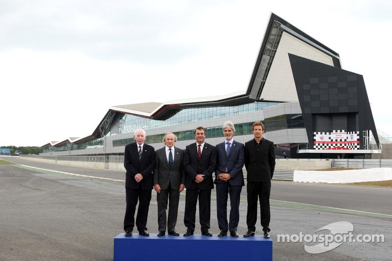 John Surtees, Sir Jackie Stewart, Nigel Mansell, Damon Hill and Jenson Button