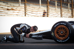 Front row photoshoot: pole winner Alex Tagliani, Sam Schmidt Motorsports shares a moment his car