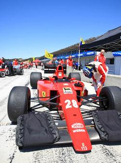 Ferrari Clienti lap in former Ferrari F1 cars