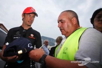 McLaren's Jenson Button almost victim of paddock chaos