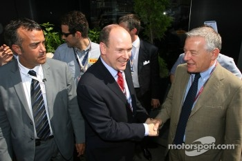 SAS Prince Albert visiting Pirelli people