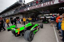 Andretti Autosport of Danica Patrick heads to pitlane