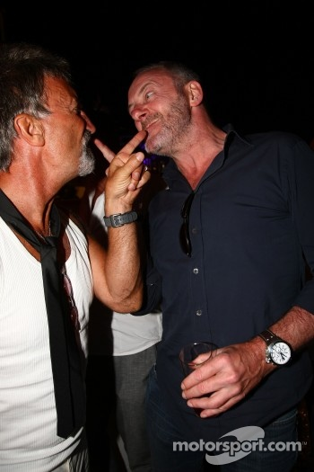 Eddie Jordan with Liam Cunningham, TW Steel Party