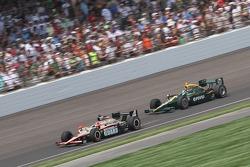 J.R. Hildebrand, Panther Racing and EJ Viso, KV Racing Technology-Lotus
