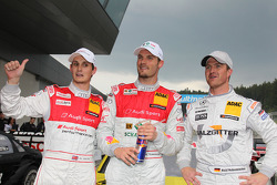 Oliver Jarvis, Audi Sport Team Abt Audi A4 DTM, Martin Tomczyk, Audi Sport Team Phoenix Audi A4 DTM, Ralf Schumacher, Team HWA AMG Mercedes C-Klasse