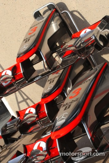 McLaren Mercedes front wings