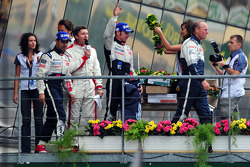 LMP1 podium: second place Pedro Lamy, Simon Pagenaud and Olivier Quesnel