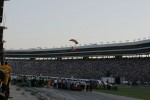 The Lone Star Flag arrives at Texas Motor Speedway