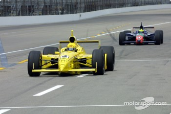 Sam Hornish Jr. and Felipe Giaffone