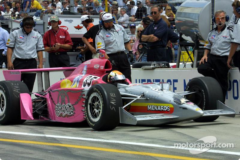Jeff Ward and the Aerosmith-sponsored car