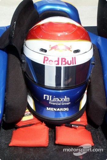 Eddie Cheever's helmet and headrest
