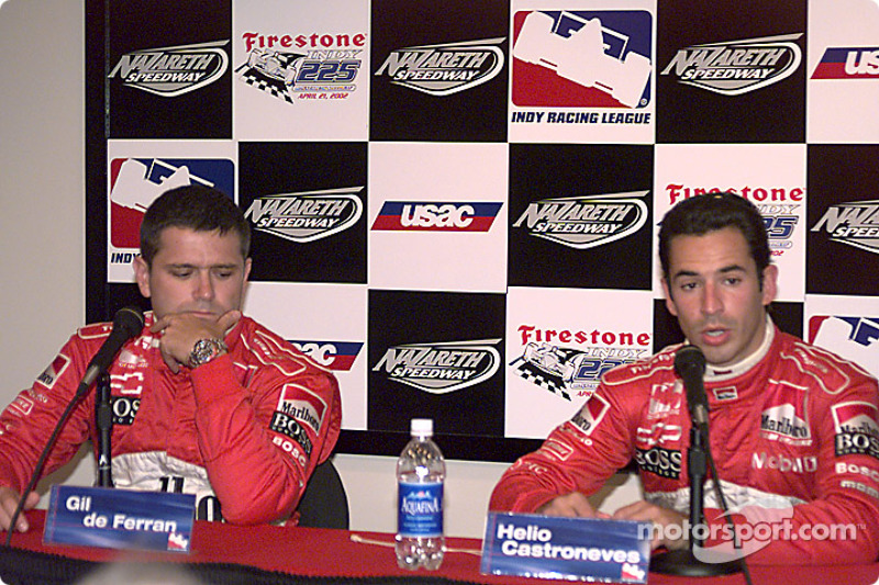 Post qualifying press conference: Gil de Ferran and Helio Castroneves