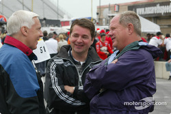 ABC commentators Gary Gerould, Scott Goodyear and Paul Page
