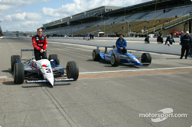 Al Unser Jr. and Scott Goodyear who were involved in the closest finish ever at the Indy 500 in 2001
