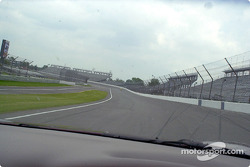 I get to follow in a 2003 'Vette, Rich is going into turn 2: a lap around Indy in the pace car at 150mph