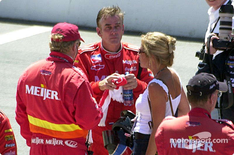 Arie Luyendyk after the race