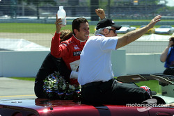 Helio Castroneves and Roger Penske