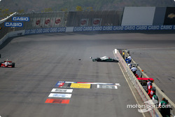 A.J. Foyt IV in the wall