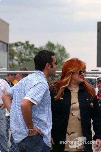 Dario Franchitti and Wynonna Judd