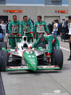 Andretti Green team members after the race