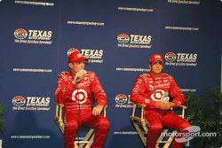 Press conference: pole winner Tomas Scheckter with Scott Dixon
