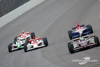 Tora Takagi leads a group of cars